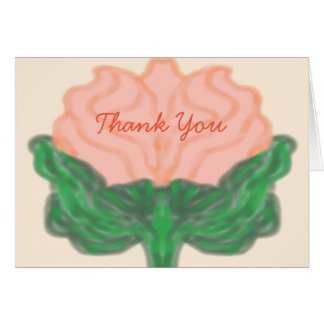 Abstract Rose in Peach Card