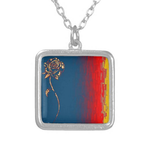 Abstract Rose Necklace