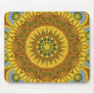 Abstract rose of flowers mouse pad