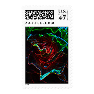 Abstract Rose Postage