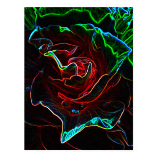 Abstract Rose postcard