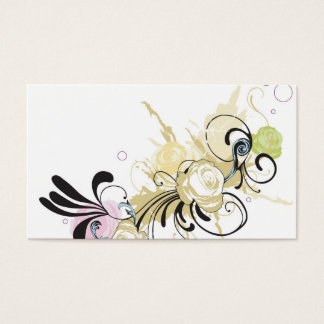 Abstract rose Profile Card