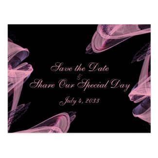Abstract Rose Save the Date Postcard
