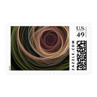 Abstract Rose stamp