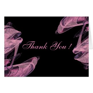 Abstract Rose Wedding Blank Thank You Cards