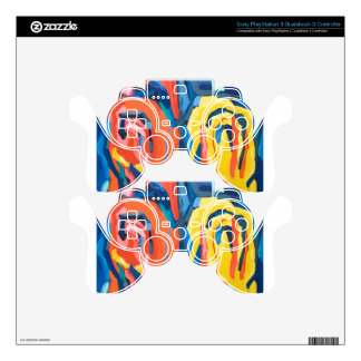 Abstract Rosebuds (abstract expressionism) PS3 Controller Decals