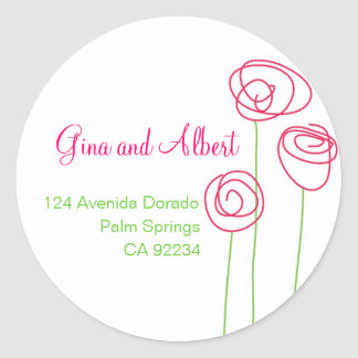 Abstract Roses Address Labels