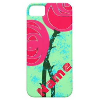 Abstract Roses and Rain iPhone 5 Case