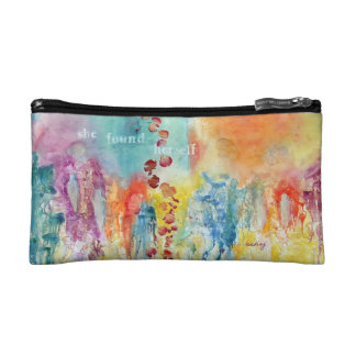 Abstract Roses Bag Cosmetic Bags