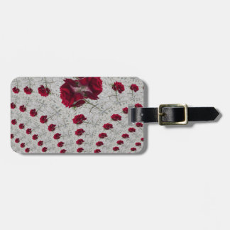abstract roses bag tag