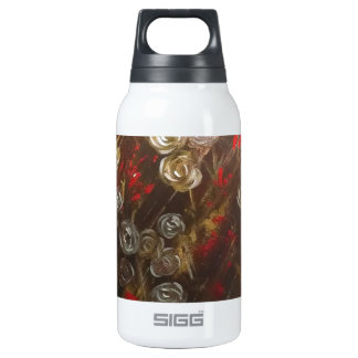 Abstract roses blow in the breeze insulated water bottle
