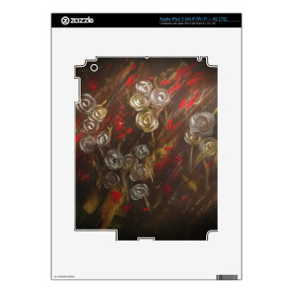 Abstract roses blow in the breeze skin for iPad 3