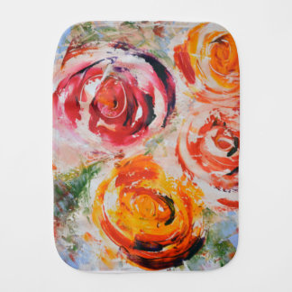 Abstract Roses Burp Cloth