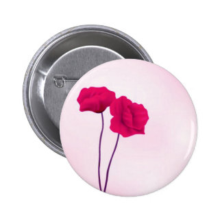 Abstract Roses Button