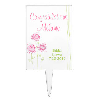 Abstract Roses Cake Topper