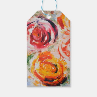 Abstract Roses Gift Tags