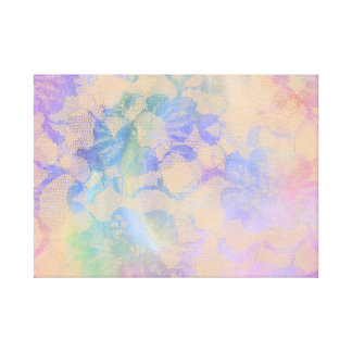Abstract Roses In Pastel Colors Canvas Print