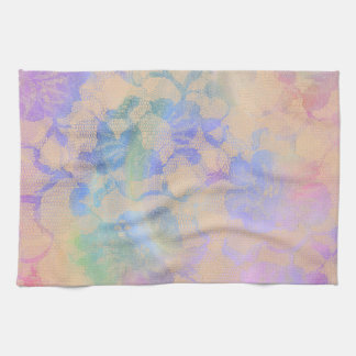 Abstract Roses In Pastel Colors Kitchen Towels