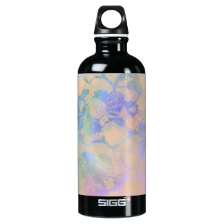 Abstract Roses In Pastel Colors Water Bottle