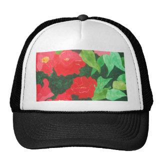 abstract roses mesh hats