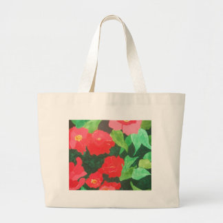 abstract roses tote bags