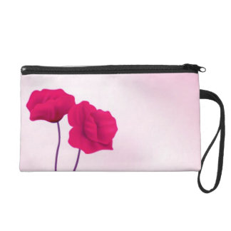 Abstract Roses Wristlet