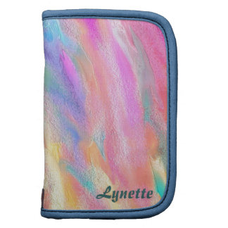 Abstract Rough Color Folio Planner