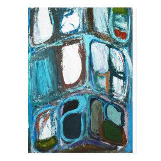 Abstract Round Bold City Blocks Post Card