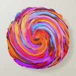 Abstract Round Pillow