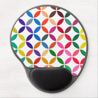 abstract round shape color circle pattern geometry gel mouse pad