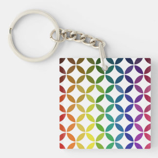 abstract round shape color circle pattern geometry keychain