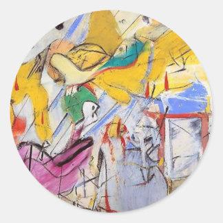 abstract round sticker