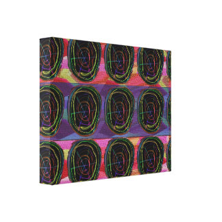 Abstract Rows Circles Graphic LineArt Whimsical Canvas Print
