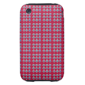 Abstract Rows of Shapes iPhone 3 Tough Case