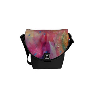 ABSTRACT RUBY MESSENGER BAGS