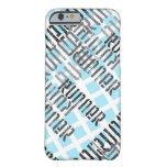 Abstract Runner Barely There iPhone 6 Case