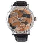 Abstract Running Horse Art Watch