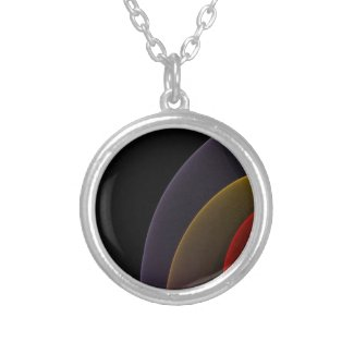 Abstract Russian Nesting Dolls Round Pendant Necklace