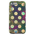 Abstract Rustic Retro Polka Dots iPhone 6 Case