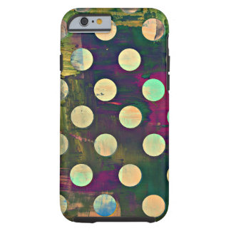 Abstract Rustic Retro Polka Dots Tough iPhone 6 Case