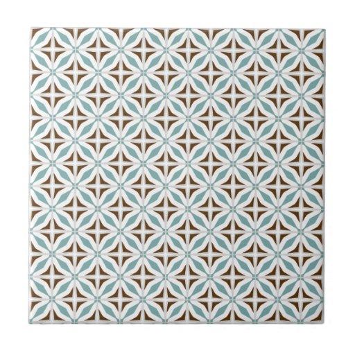 Abstract Safari Geometric Pattern Turquoise