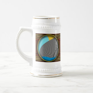 Abstract - Sailing 18 Oz Beer Stein