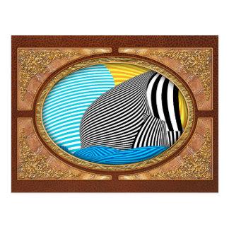 Abstract - Sailing Postcard