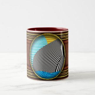 Abstract - Sailing Two-Tone Coffee Mug