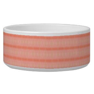 Abstract salmon pink stripes pattern bowl