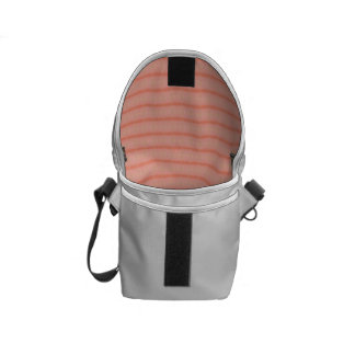 Abstract salmon pink stripes pattern courier bag