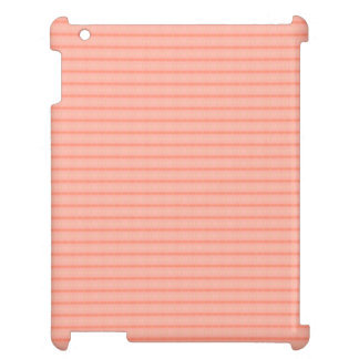 Abstract salmon pink stripes pattern iPad cover