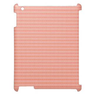 Abstract salmon pink stripes pattern iPad covers