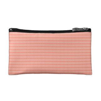 Abstract salmon pink stripes pattern makeup bag