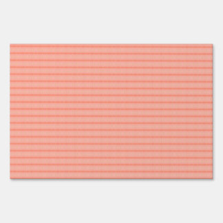 Abstract salmon pink stripes pattern yard sign